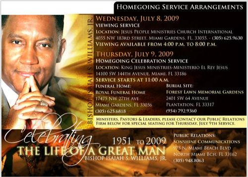 Bishop Isaiah Williams' Celebration of Life