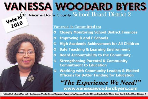 Vanessa Woodard Byers --- The Experience We Need!