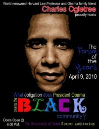 What obligation does President Obama have to the black community?
