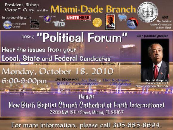 NAACP political forum features the Rev. Al