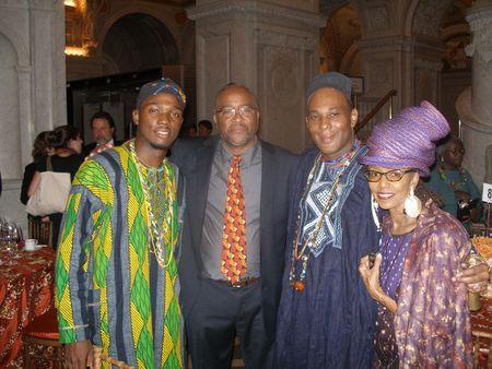Prince Emmanuel,  2010 National Heritage Fellow Ezequiel Torres, Chief      Styles and Brenda Damali Winstead[1]