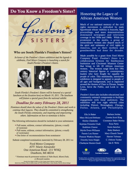 Do you know a Freedom's Sister? Nominate her today!