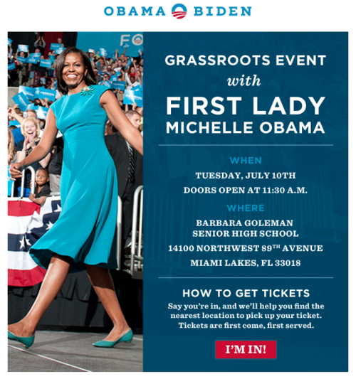 Michelle Obama in Miami 7-10