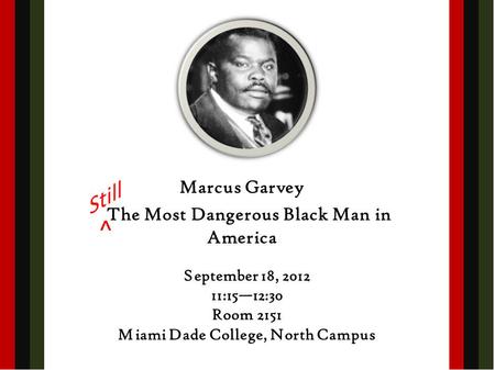 Marcus Garvey Lecture