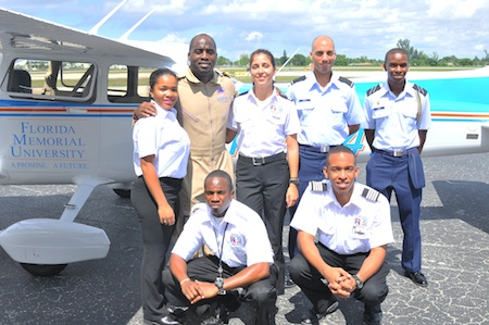 Irving and FMU aviation students