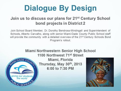 MDCPS Bond Referendum Town Hall Meeting District 2