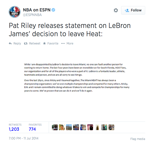 Riley statement