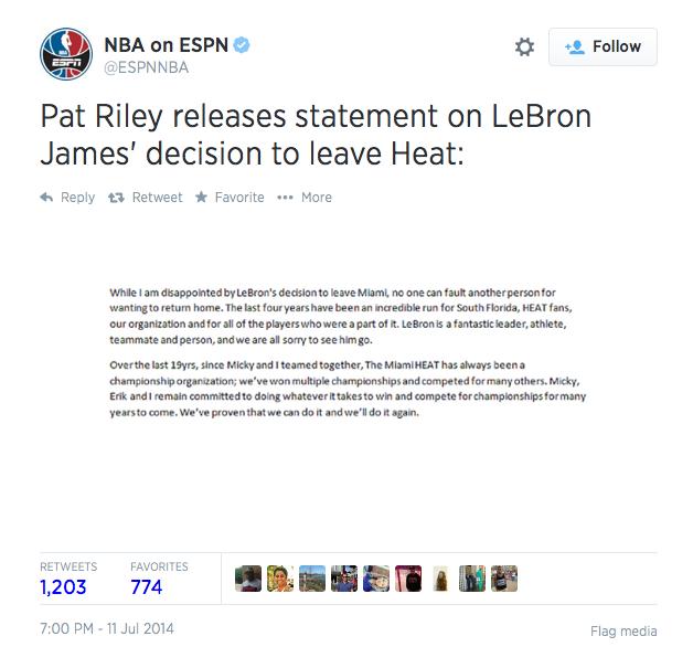Riley statement