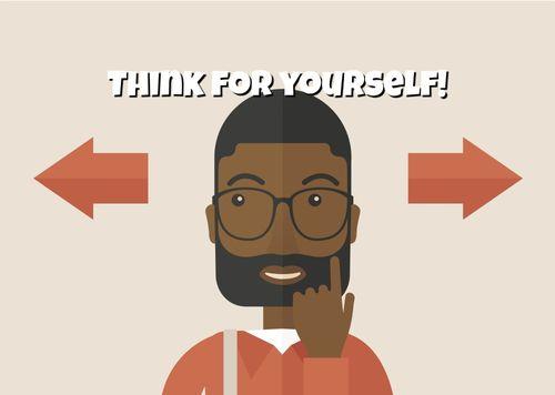 Black man thinking