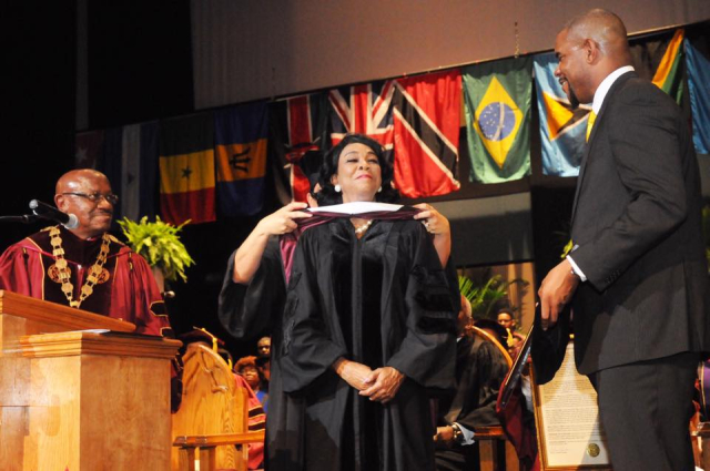 Rep. Wilson hooded at BCU Graduation