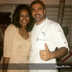 Former First Lady Michelle Obama dines at Seaspice in Miami