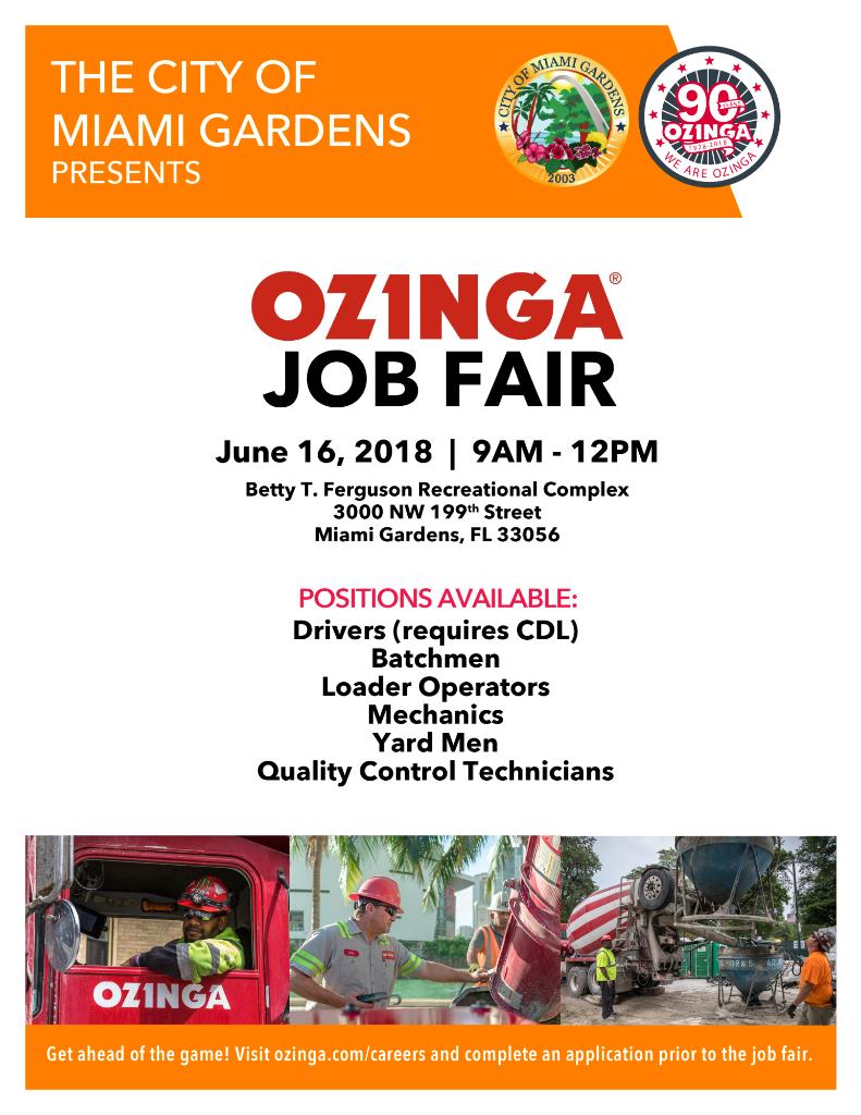 Job Fair Today For Construction Positions Miami Gardens Residents