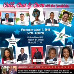Chill, Chat & Chew with the Candidates, Wednesday, August 1, 2018