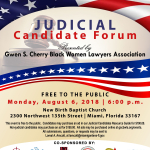 Judicial Candidate Forum, Mon. Aug. 6 at New Birth