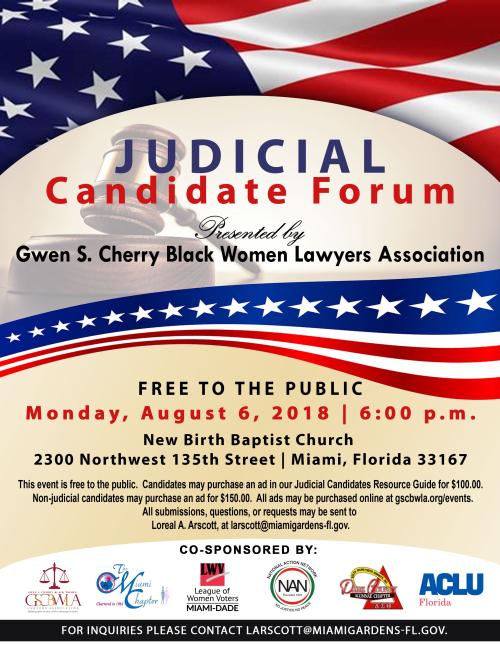GSCBWLA Judicial Candidates Forum 2018