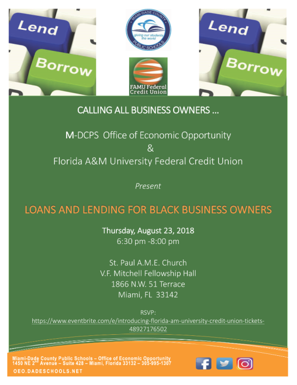 Community Outreach Flyer_FAMU Credit Union08232018