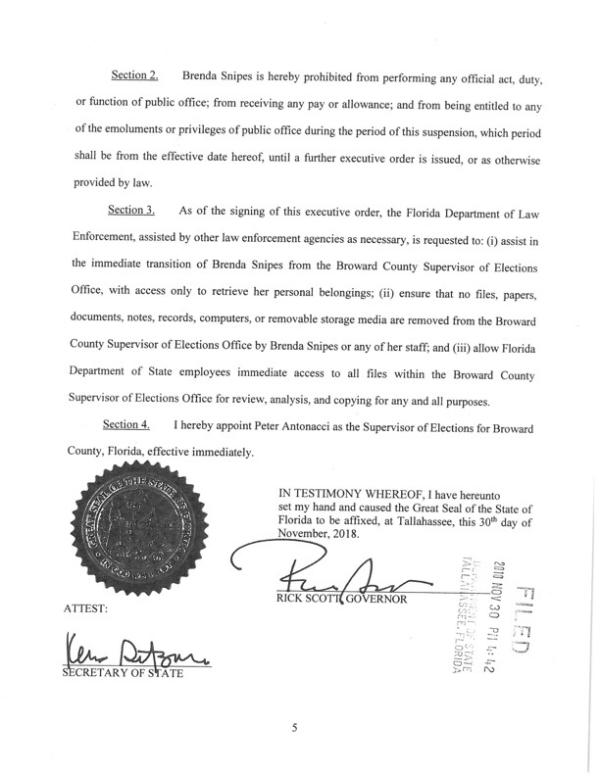 Broward County Elections Supervisor Dr  Brenda Snipes Suspended