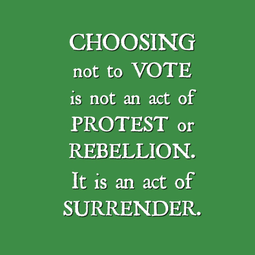 Choosing not to vote