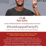 Miami Kappas Get Out the Vote Saturday 10/27