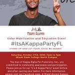 Miami Kappas Get Out the Vote Saturday 10/27