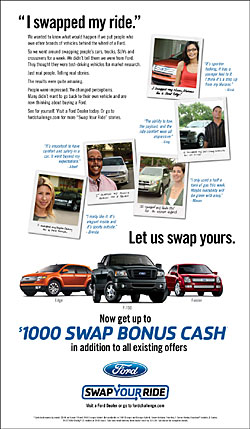 William DC Clark Featured in Ford Swap Your Ride Campaign